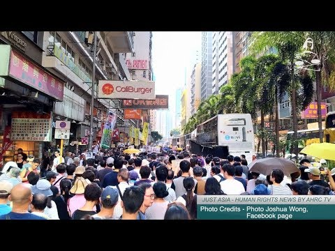 AHRC TV: Protests in Hong Kong over sentencing of democracy activists and other stories in JUST ASIA, Episode 185